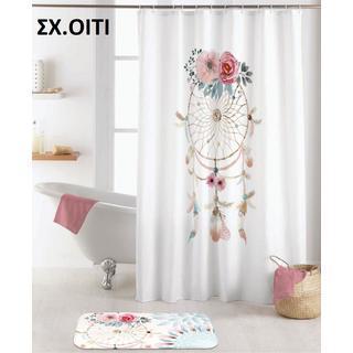 Κουρτίνες μπάνιου digital print με κρίκους 180Χ200cm 100%pol