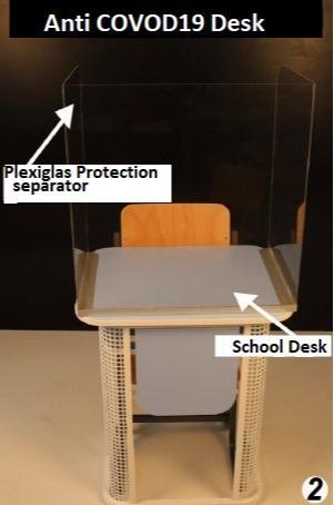 Anti COVID19 Protection School Desk