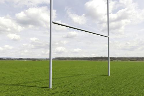 Rugby-Tor, 3-teilig, 5,6 x 6,5 m, alunatur