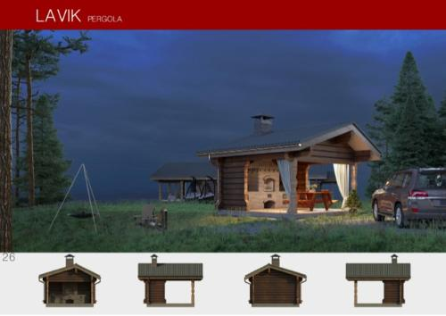 Prefabricated wooden house LAVIK