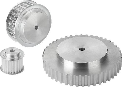 Toothed belt pulleys T profile