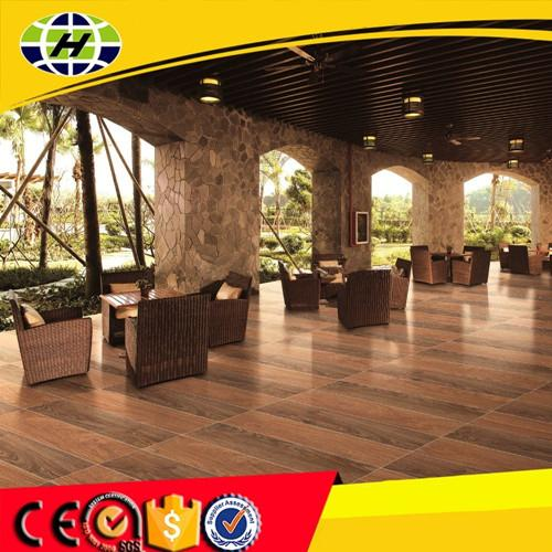 Acid-resistant ceramic wood tile