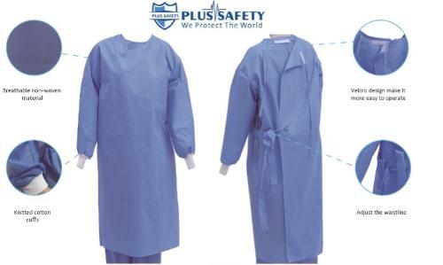 Хирургический медицинский халат EN 13795-1 с манжетой sms