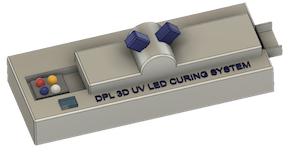 3d uv led hærdningssystem til laboratoriebrug