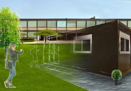 Construction modulaire pour salle se classe