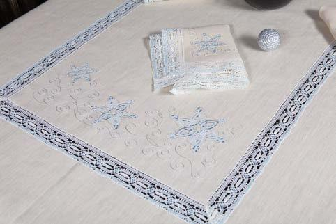 "The set of table linen ""SNOWY"""