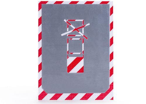 bvg pochoir | limite d'empilage en nombre | aluminium | 100mm