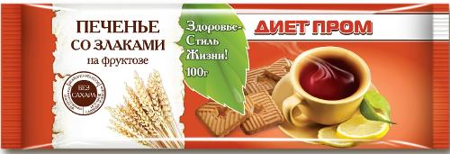 Cookies with cereals on fructose Diet Prom 100 g