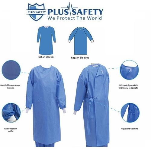 SMS Blue Sterile Disposable Surgical Medical Gown