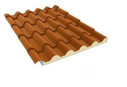 Dachziegelblech mit PIR Dämmung