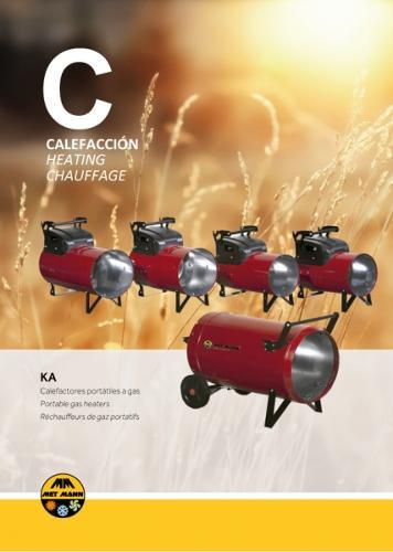 Calefacción portátil a gas butano o propano 15 a 108 kW - KA