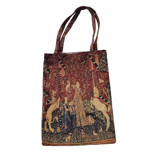 i/ Sac tapisserie Dame Licorne 35x40 cm