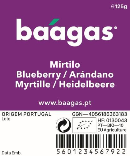 Organic blueberries/Mirtilo biológico
