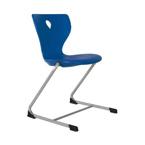 Freischwinger Schulstühle mit Kunststoffschale (Luftpolster)