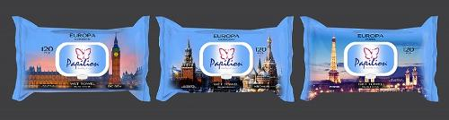 Papilion Europe Wet Wipes 120 Pcs