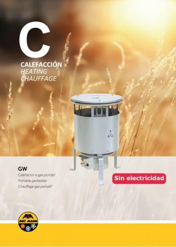 Calefacción para espacios abiertos a gas butano - GW