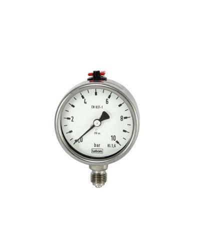 Mechanisches Druckmessgerät mit Rohrfeder nach EN 837-1