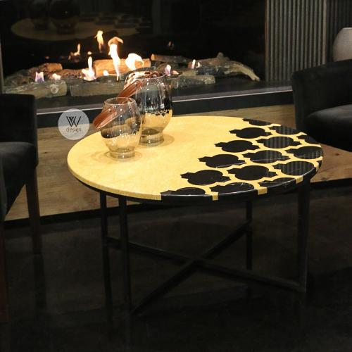 Golden Morocco-marble Coffee Table
