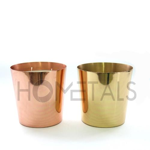 Large taper design containers with scented candles