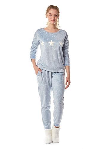 Blue Fleece Pyjamas Set