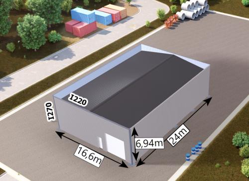 Bâtiment Isolé avec Porte Sectionnelle 16,6x24x6,94m
