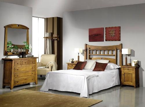 Dormitorio Rústico En Madera De Pino