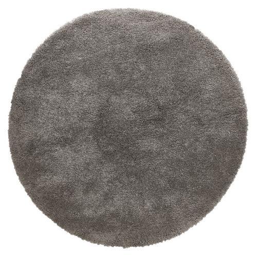 Tapis design rond (Ø 160 cm) SABRINA (gris foncé)
