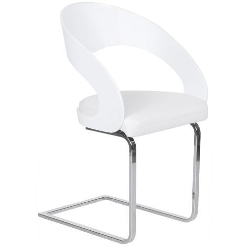 Chaise contemporaine LOING blanche