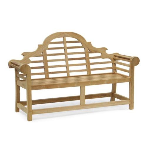 garden bench teak wood 160x50x104 cm