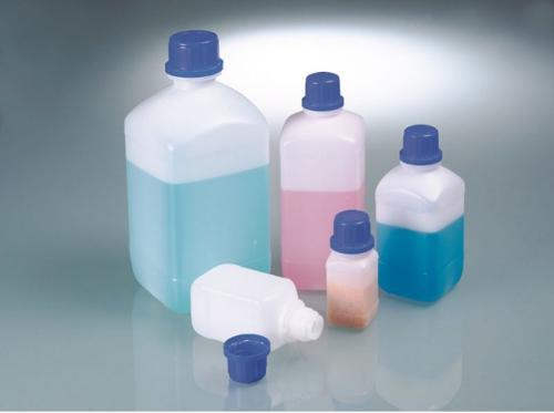 Botellas de cuello estrecho para productos químicos