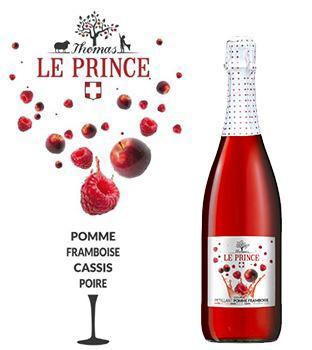 Pétillant Pomme Framboise = Fruits + Bulles Sans Alcool