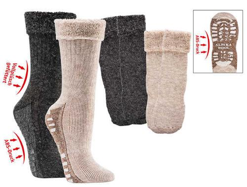 6522 - Fluffy Home Socks with Alpaca and Anti-Slip