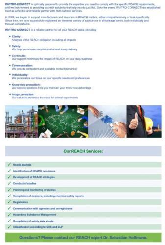 Complete REACH Service - Laboratory- and Regulatory