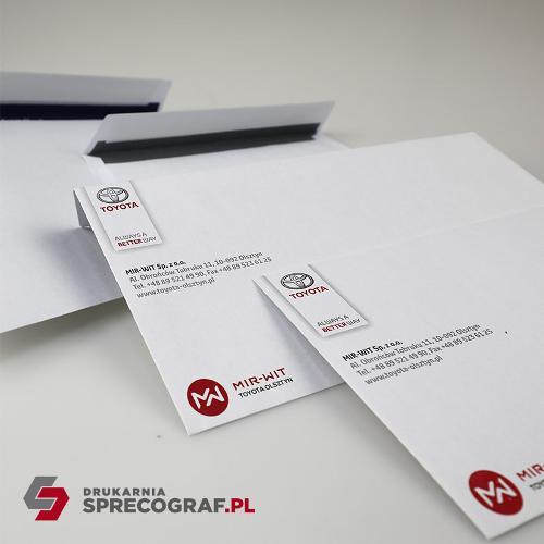 Koperty firmowe i torby papierowe z nadrukiem