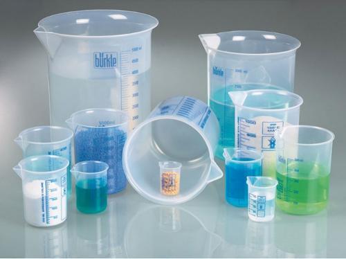 Лабораторные стаканы, стаканы Гриффина из ПП, синяя шкала