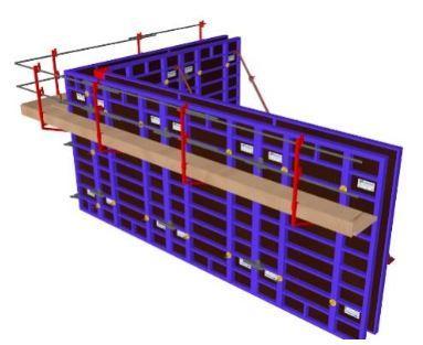 Modular formwork: Metal shuttering wooden formwork
