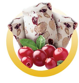 NOUGAT CRAMBERRIES