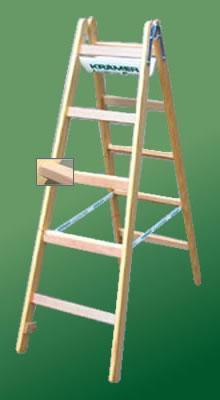 Holz-Breit-Sprossenstehleiter