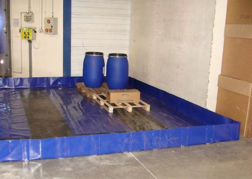 Bac de rétention souple pliable - 4000 litres - bac...