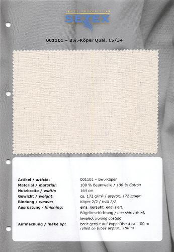 Cotton-Twill Qual. 15/34
