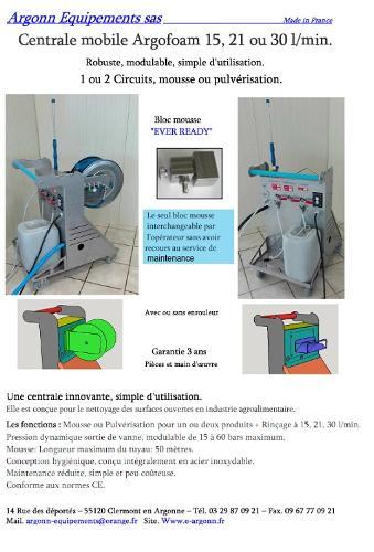 Centrale de nettoyage et désinfection