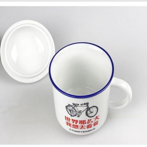 Chinese enamelware mimic enamel cup 500 ml