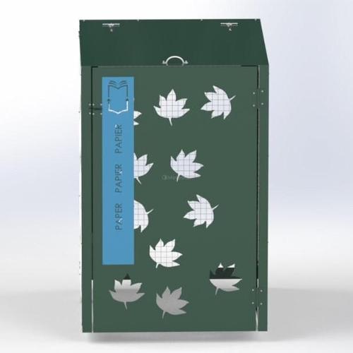 Abri Cache Poubelle Automne Recyclage Papier