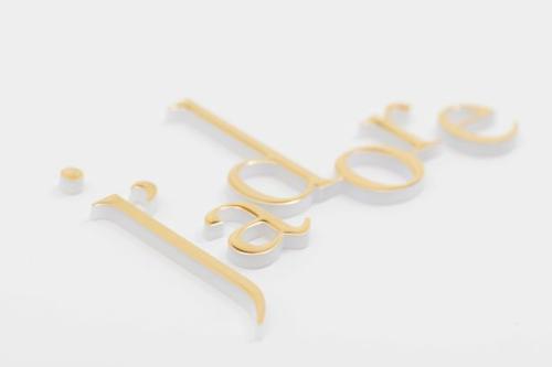 Hot stamping logos