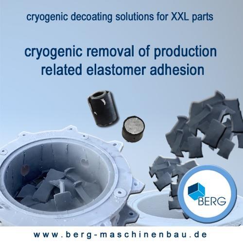 Cryogenic decoating of XXL parts