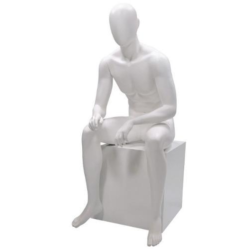 Mannequin vitrine homme assis