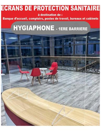 Hygiaphone Vitre Protection Plexiglas Sur Pieds