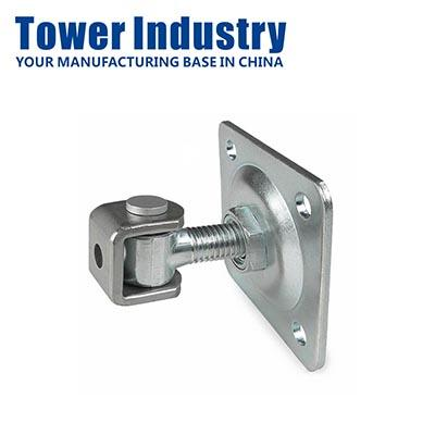 Adjustable welding hinge for swing gate