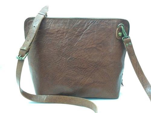 Crunch Leather Shoulder  Bag