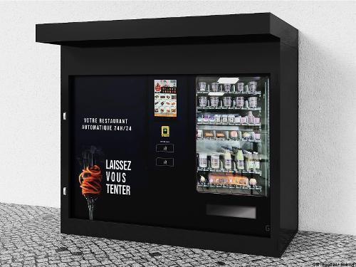 Kiosque blindé pour 1 distributeur FOOD24MAX (Exemple)